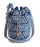 Blue Mayan bag made by artisans