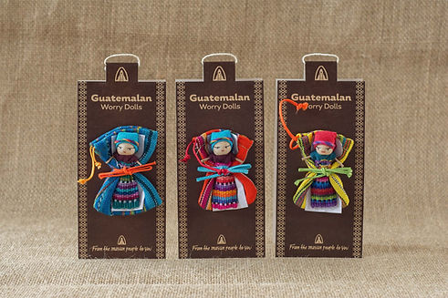 3 Worry Dolls in Custom Packaging For Wholesale