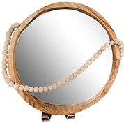 Wood Hanging Mirror