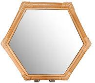 Rattan Hexagon Mirror