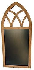 Arched Wood Chalkboard
