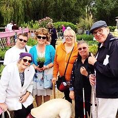 WNDA-Hard of Hearing social group enjoying a day out at the garden centre