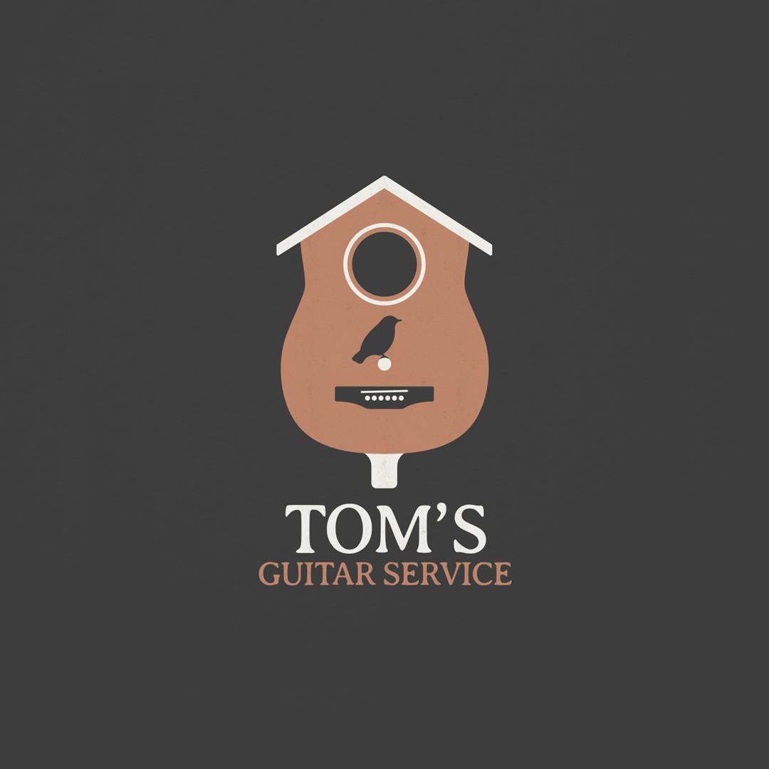 Tom's Guitar Service Logo