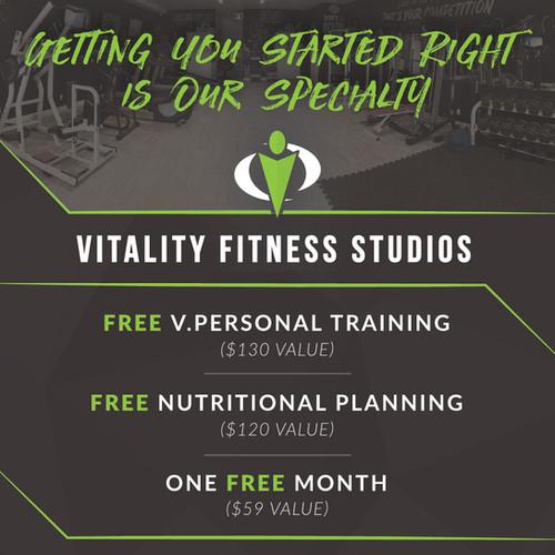 Vitality Fitness Studios Poster