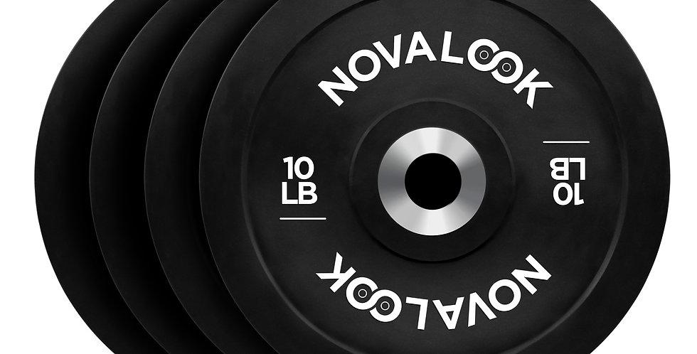 Novalook 10LB 2.0 Bumper Plate Four Pack
