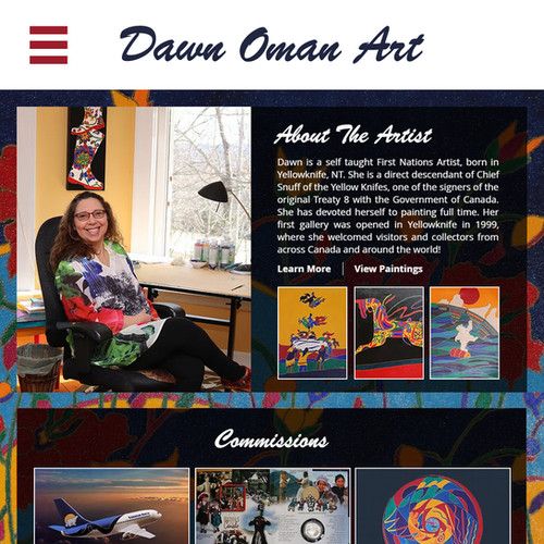 Dawn Oman Art Website