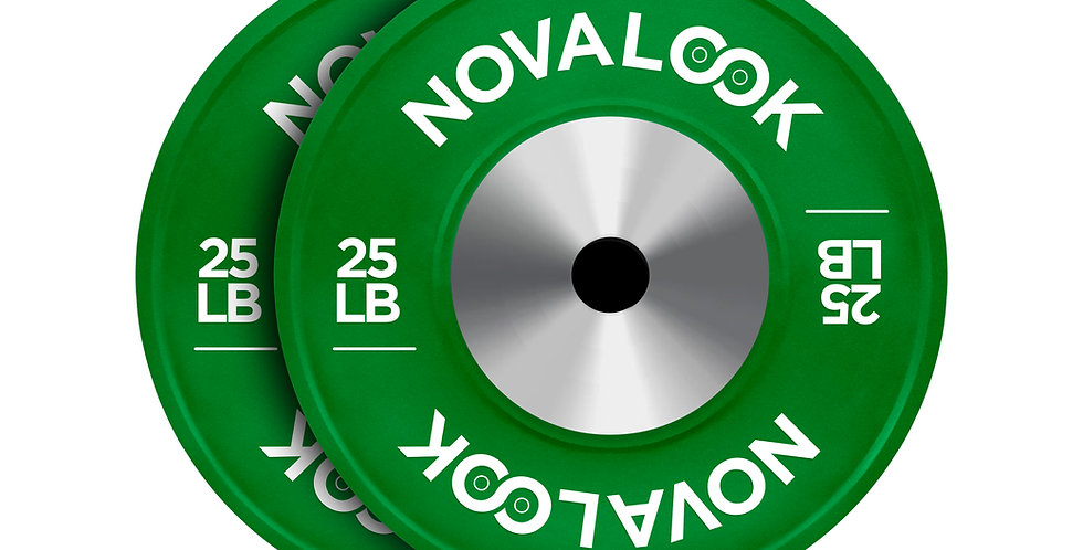 Novalook 25LB Competition Bumper Plate Pair