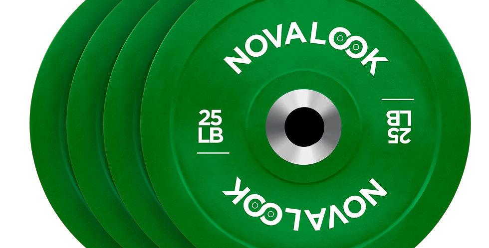 Novalook 25LB 2.0 Bumper Plate Four Pack