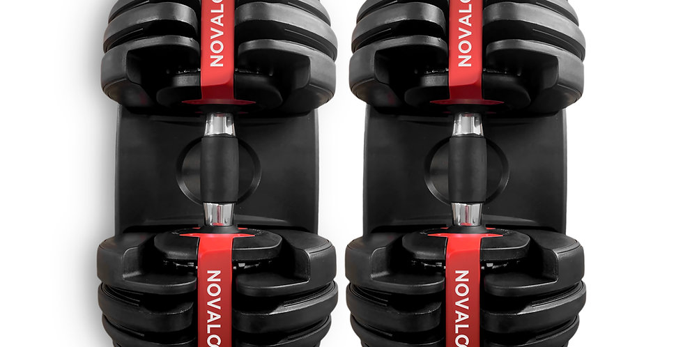 Novalook 52.5LB Adjustable Dumbbell Pair