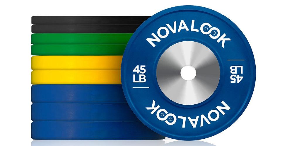 320LB Novalook Competition Bumper Plate Set