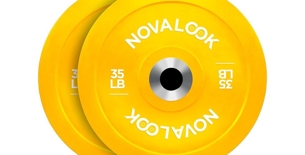 Novalook 35LB 2.0 Bumper Plate Pair