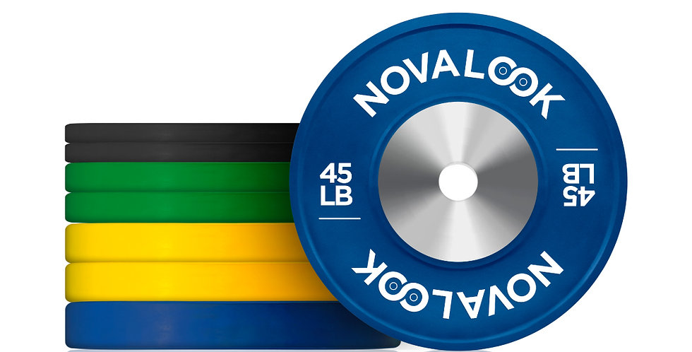230LB Novalook Competition Bumper Plate Set