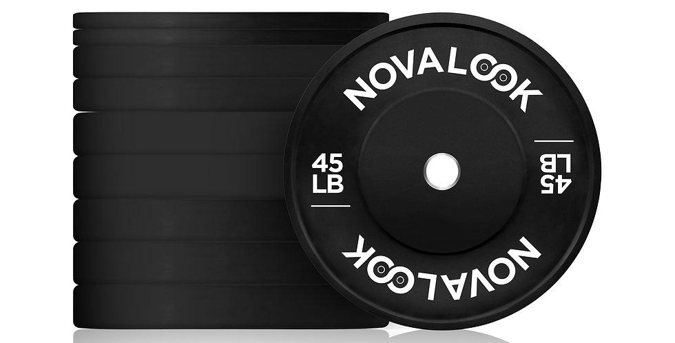 320LB Novalook 2.0 Bumper Plate Set w/ Free Plate Rack