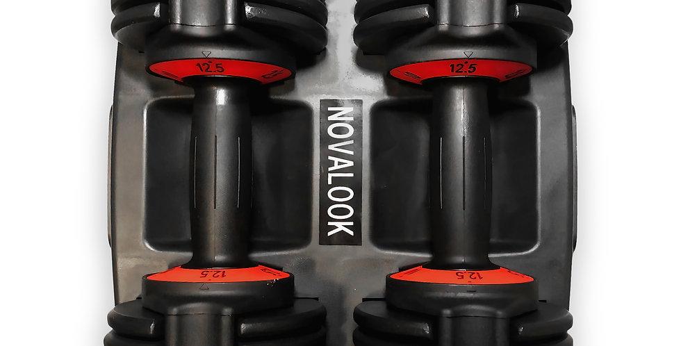 Novalook 12.5LB Adjustable Dumbbell Pair