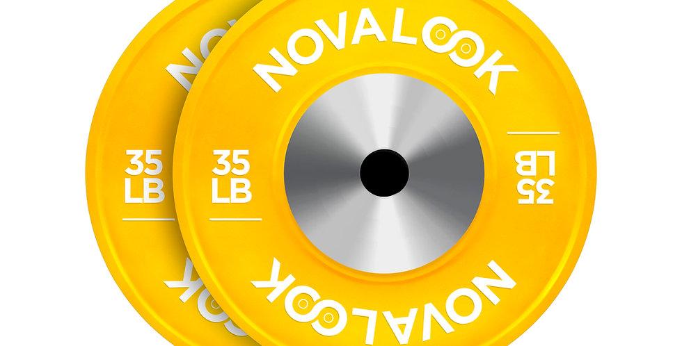 Novalook 35LB Competition Bumper Plate Pair