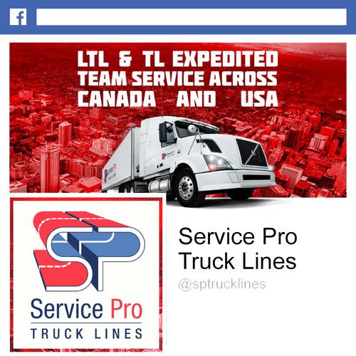 Service Pro Truck Lines Facebook Design