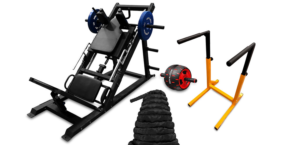 Novalook Hack Squat + Leg Press Machine Combo