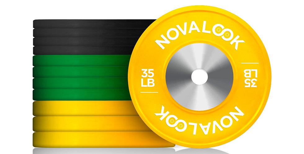 280LB Novalook Competition Bumper Plate Set