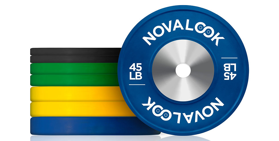 230LB Novalook Competition Bumper Plate Set
