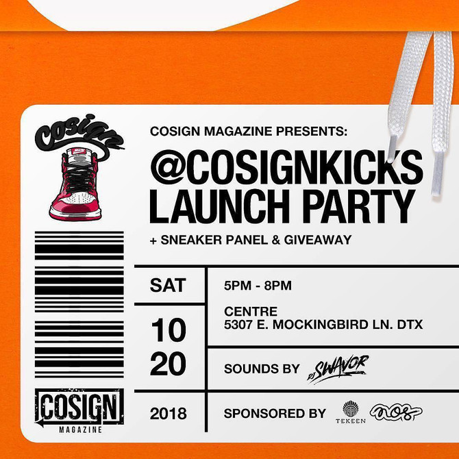 Co-Sign Kicks Launch Party