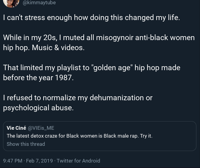 Female Rap being a better choice of music for black girls? This is not a genre by the way, but, let'