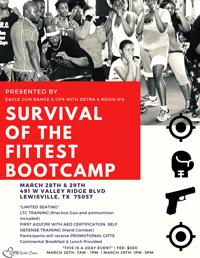 There's a SURVIVAL BOOTCAMP for WOMEN coming to Dallas