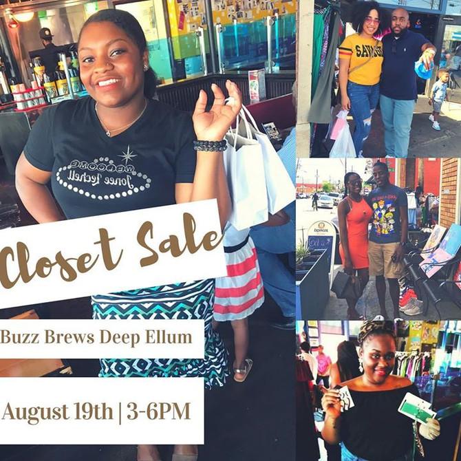 Closet Sale: August 19th