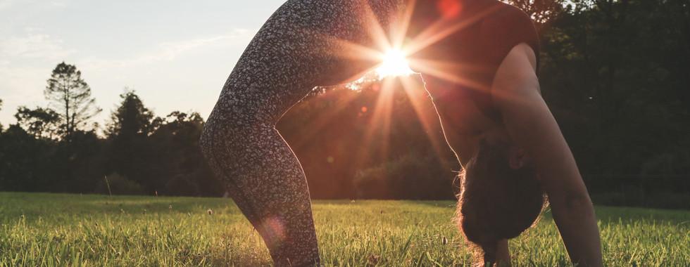 ct yoga photographer michele iljazi wheel pose sunset