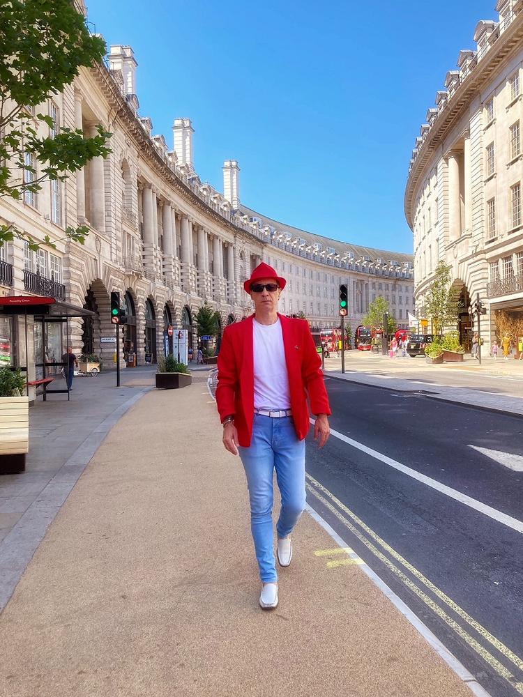 How to Wear a Red Blazer