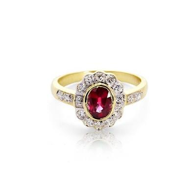 Debutante Ruby & Diamond Ring