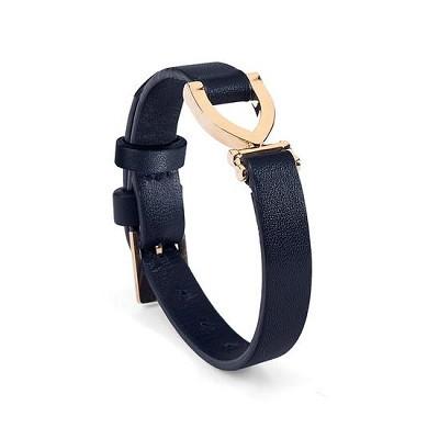 Stirrup Bracelet in Smooth Navy