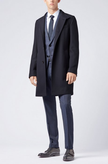 Formal coat in virgin wool
