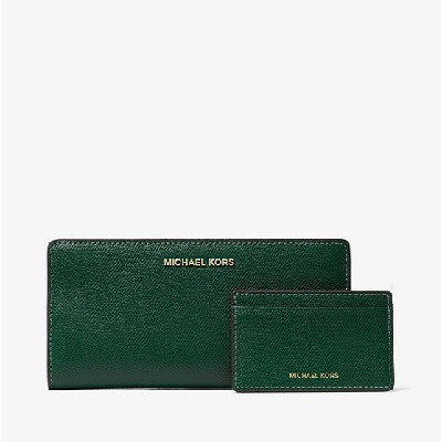 Large Saffiano Leather Slim Wallet