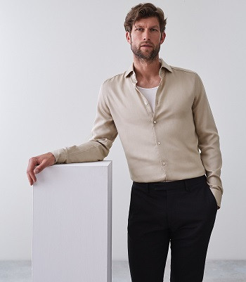 JACKSON: LINEN BLEND SLIM FIT SHIRT