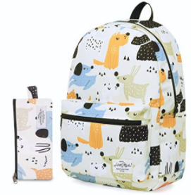 TRENDYMAX Galaxy Backpack for School Girls & Boys, Durable and Cute Bookbag with 7 Roomy Pockets
