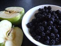 Blackberries and apple