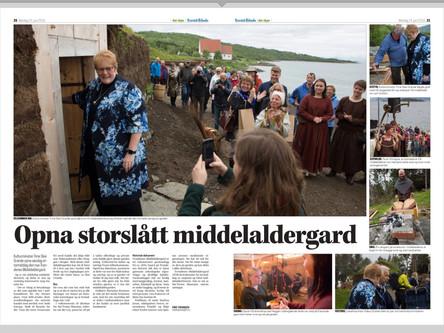 Åpning av storslått middelaldergård
