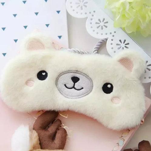 Маска для сна  смешной медведь