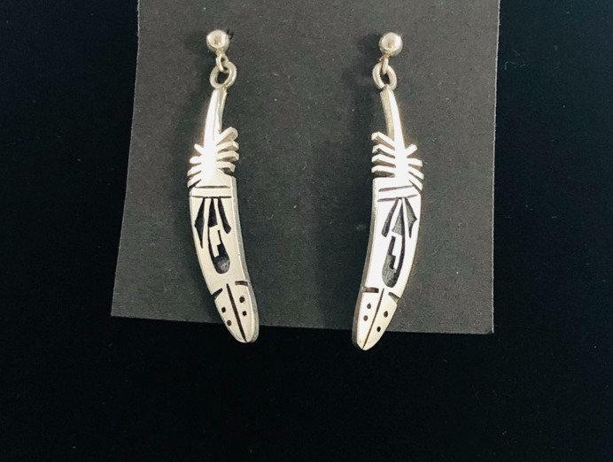 Hopi overlay earrings