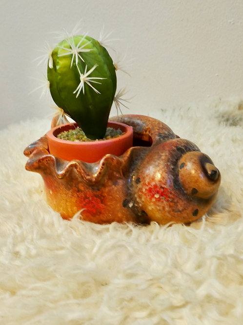 Vintage Conch Shell Planter