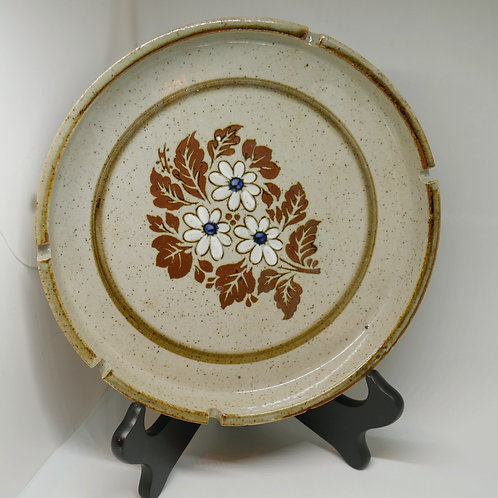 Large Ceramic Floral Ashtray