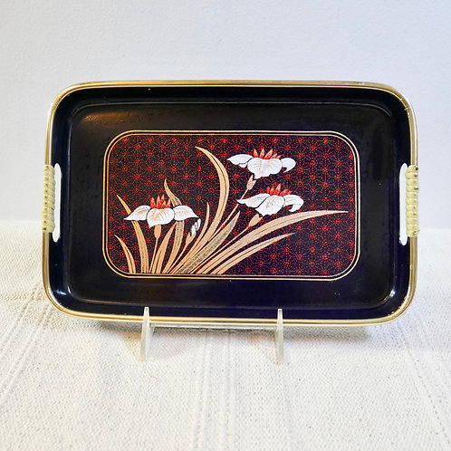 Vintage Small Art Deco Floral Tray