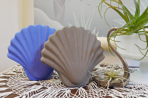 Gray Decorative Seashell Vase