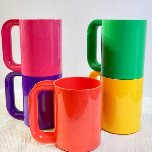 Set of 5 Heller Massimo Vignelli Mugs