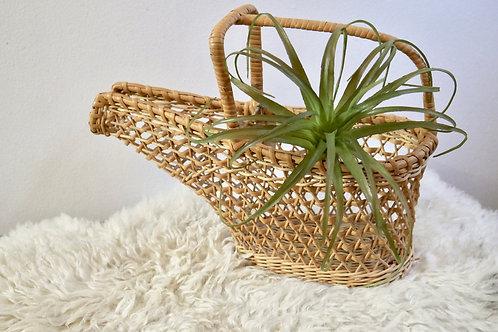 Vintage Rattan Wine Bottle Basket