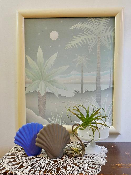 Royal Blue Decorative Seashell Vase