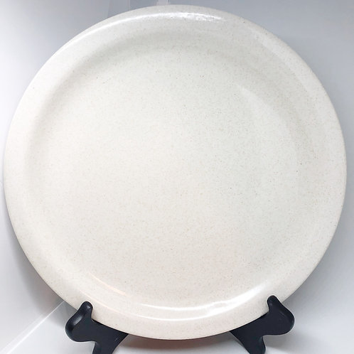 Set of 4 Speckled Stoneware Ceramic Dinner Plates