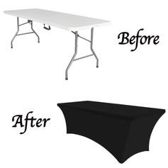 "6"" Black Spandex Tablecloth"