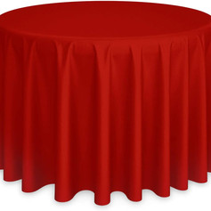 """120"""" Red, Round Tablecover"""