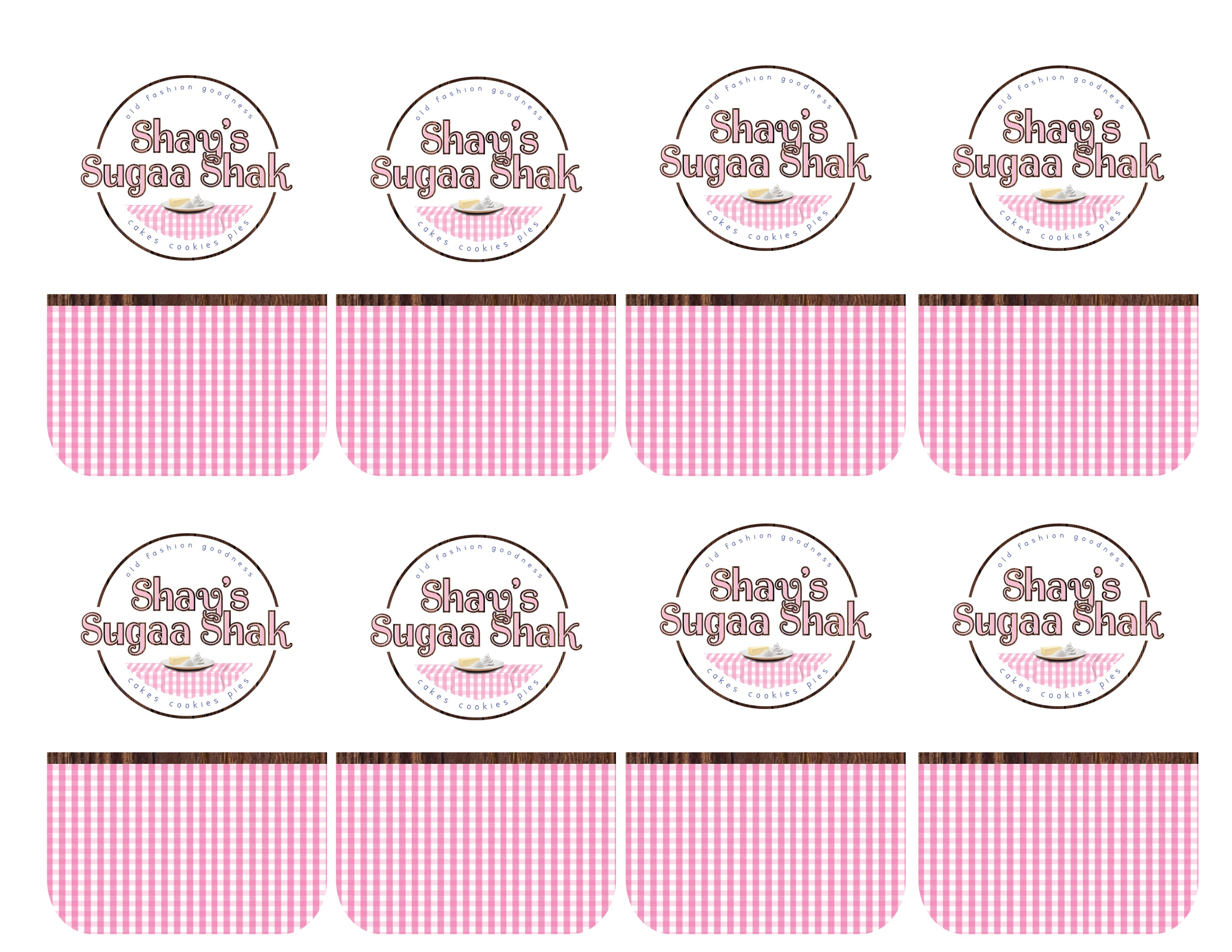 Shay's Sugaa Shak Rectangular Sticker Sheet